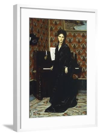 Portrait of Mary Donegani, 1869-Giovanni Boldini-Framed Giclee Print