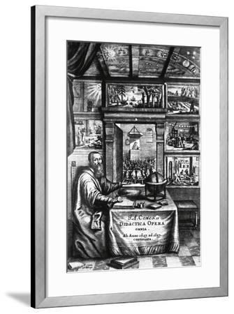 Title Page of Didactica Magna-Jan Amos Komenskj-Framed Giclee Print