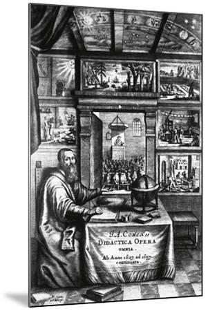 Title Page of Didactica Magna-Jan Amos Komenskj-Mounted Giclee Print