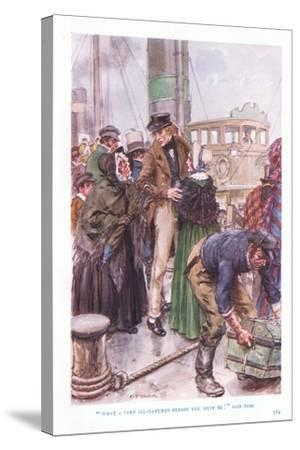 """""""What a Very Ill-Natured Person You Must Be"""" Said Tom-Charles Edmund Brock-Stretched Canvas Print"""