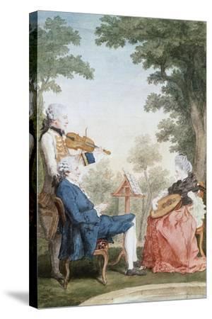 Monsieur and Mademoiselle De Croismare-Louis de Carmontelle-Stretched Canvas Print