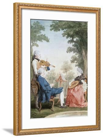 Monsieur and Mademoiselle De Croismare-Louis de Carmontelle-Framed Giclee Print
