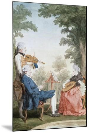 Monsieur and Mademoiselle De Croismare-Louis de Carmontelle-Mounted Giclee Print
