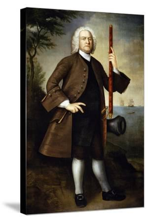 Portrait of Captain John Larrabee, 1760-Joseph Badger-Stretched Canvas Print