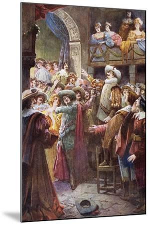 Nose Monologue, from Cyrano De Bergerac-Edmond Rostand-Mounted Giclee Print