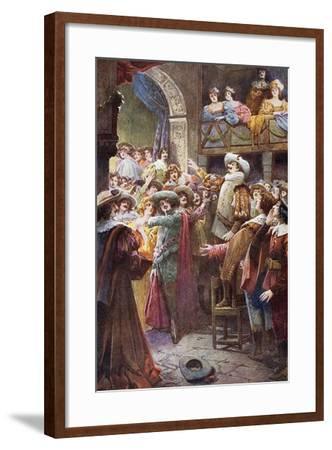 Nose Monologue, from Cyrano De Bergerac-Edmond Rostand-Framed Giclee Print