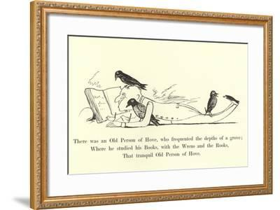 There Was an Old Person of Hove, Who Frequented the Depths of a Grove-Edward Lear-Framed Giclee Print