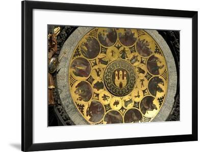 The Prague Astronomical Clock, the Calendar-Josef Manes-Framed Giclee Print