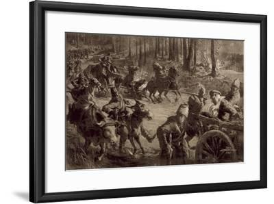 German Troops with Spoils of War and Prisoners and Captured Cattle-Felix Schwormstadt-Framed Giclee Print