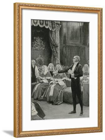 Earl Grey Appeals to the Bench of Bishops to Pass the Reform Bill-William Henry Margetson-Framed Giclee Print