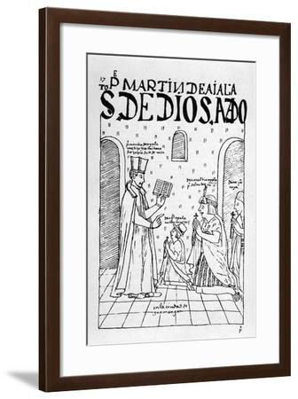 Woodcut from 'The First New Chronicle and Good Government' ,C.1560-Felipe Huaman Poma De Ayala-Framed Giclee Print