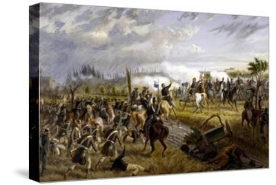 Battle of San Martino, June 24, 1859-Raffaele Pontremoli-Stretched Canvas Print