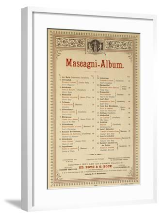 Title Page of Album of Compositions-Pietro Mascagni-Framed Giclee Print