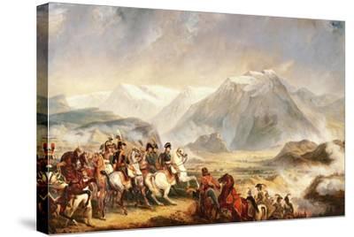 Battle of Rivoli, January 14, 1797-Francois Gabriel Guillaume Lepaulle-Stretched Canvas Print