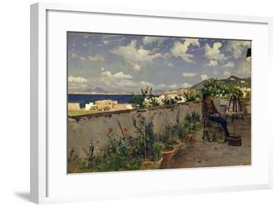 Garden with the Sea in the Background-Antonino Leto-Framed Giclee Print