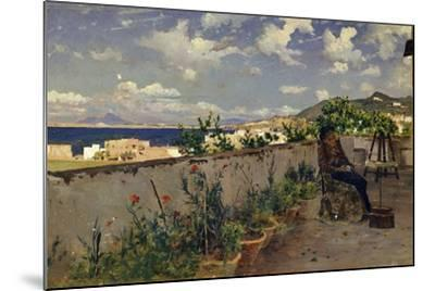 Garden with the Sea in the Background-Antonino Leto-Mounted Giclee Print