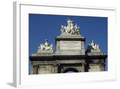Puerta De Toledo Gate, 1813-1827-Antonio Lopez Aguado-Framed Giclee Print