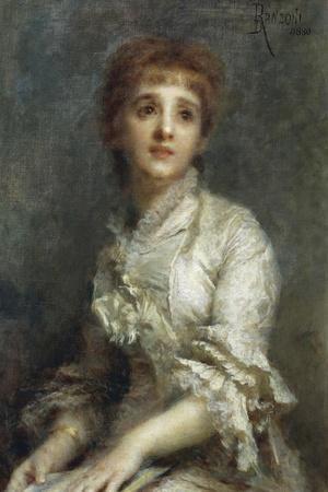Portrait of Mrs Pisani Dossi, 1880-Daniele Ranzoni-Framed Giclee Print