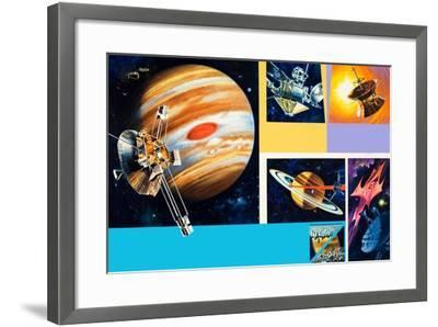 Early Unmanned Space Missions to the Outer Planets-Wilf Hardy-Framed Giclee Print