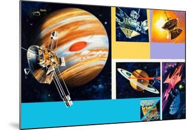 Early Unmanned Space Missions to the Outer Planets-Wilf Hardy-Mounted Giclee Print