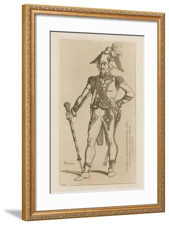 Drum Major of Chasseurs a Pied of the Consular Guard, 1802-04-Raphael Jacquemin-Framed Giclee Print