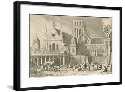 Leonard Holt Conversing with the Masons before the Portico of Saint Paul'S-John Franklin-Framed Giclee Print