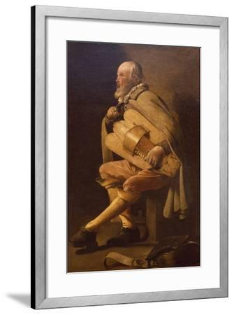 Hurdy-Gurdy Player with Bag-Georges de La Tour-Framed Giclee Print