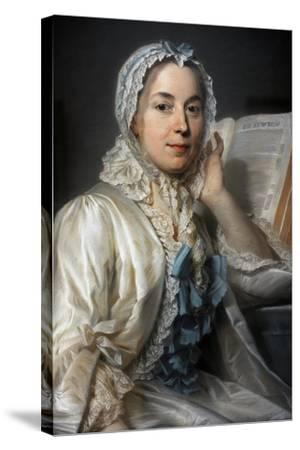 Madame Ferrand Meditating on Newton, 1753-Maurice Quentin de La Tour-Stretched Canvas Print