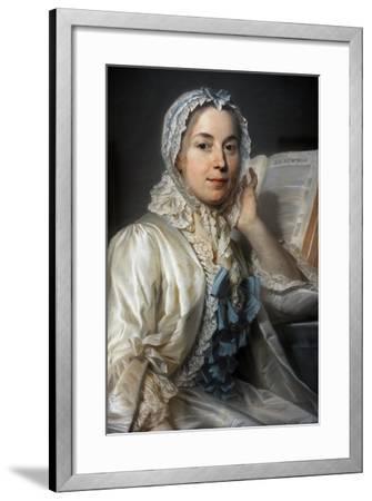 Madame Ferrand Meditating on Newton, 1753-Maurice Quentin de La Tour-Framed Giclee Print