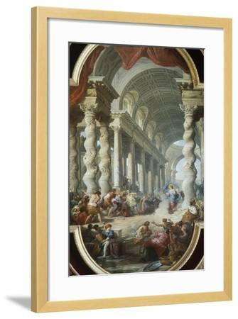 Jesus Stoned in the Temple-Giovanni Paolo Panini-Framed Giclee Print