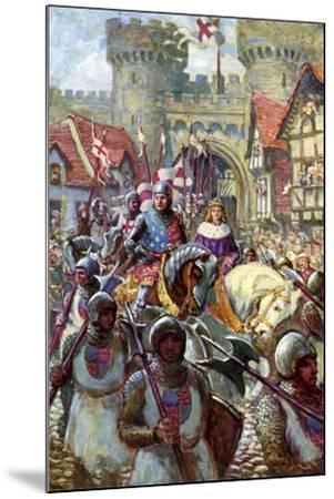 Edward V Rides into London with Duke Richard, 1483-Charles John De Lacy-Mounted Giclee Print
