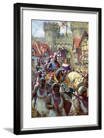 Edward V Rides into London with Duke Richard, 1483-Charles John De Lacy-Framed Giclee Print