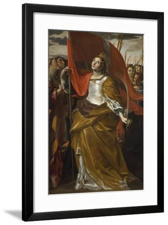 St Ursula and the Virgins, 1622-1623-Giovanni Lanfranco-Framed Giclee Print