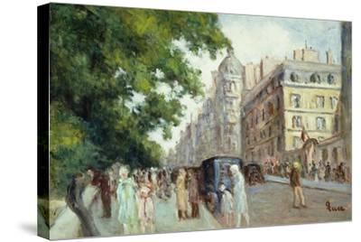 Street Scene in Paris; Scene De Rue a Paris, 1935-37-Maximilien Luce-Stretched Canvas Print