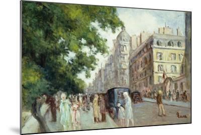Street Scene in Paris; Scene De Rue a Paris, 1935-37-Maximilien Luce-Mounted Giclee Print
