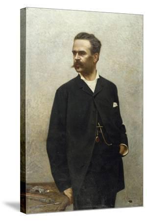 Portrait of Artist Niccolo Barabino-Alfredo Luxoro-Stretched Canvas Print