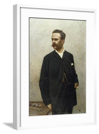 Portrait of Artist Niccolo Barabino-Alfredo Luxoro-Framed Giclee Print