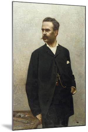 Portrait of Artist Niccolo Barabino-Alfredo Luxoro-Mounted Giclee Print