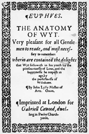 Title Page of Euphues or the Anatomy of Wit-John Lyly-Framed Giclee Print