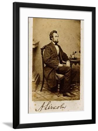 A Signed Carte De Visite Photograph Of Abraham Lincoln 1861 Alexander Gardner