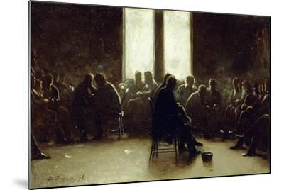 Study for the Nantucket School of Philosophy, 1876-Eastman Johnson-Mounted Giclee Print