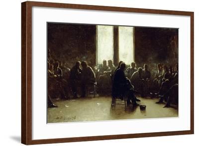 Study for the Nantucket School of Philosophy, 1876-Eastman Johnson-Framed Giclee Print