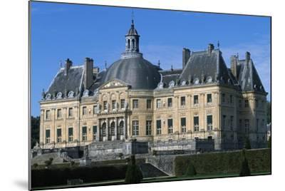 View of Chateau of Vaux-Le-Vicomte, 1656-1661-Louis Le Vau-Mounted Giclee Print