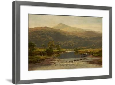 Scene on the Llugwy with Moel Siabod in the Distance, 1870-Benjamin Williams Leader-Framed Giclee Print