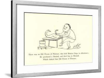 There Was an Old Person of Florence, Who Held Mutton Chops in Abhorrence-Edward Lear-Framed Giclee Print