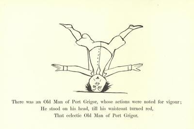 There Was an Old Man of Port Grigor, Whose Actions Were Noted for Vigour-Edward Lear-Framed Giclee Print