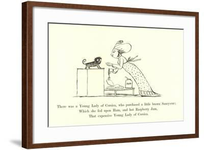 There Was a Young Lady of Corsica, Who Purchased a Little Brown Saucy-Cur-Edward Lear-Framed Giclee Print