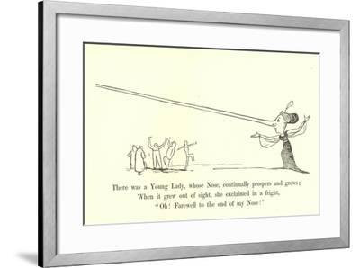 There Was a Young Lady, Whose Nose, Continually Prospers and Grows-Edward Lear-Framed Giclee Print