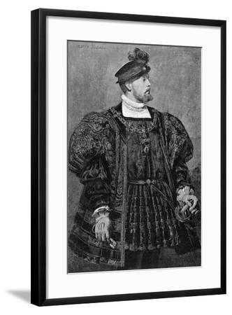 Actor Gustave Worms in Role of Don Carlos in Hernani, 1830-Victor Hugo-Framed Giclee Print