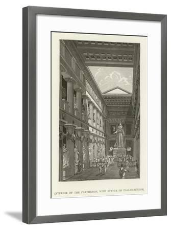 Interior of the Parthenon, with Statue of Pallas-Athene--Framed Giclee Print